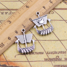 10pcs Charms viking ship boat 26*21mm Tibetan Silver Plated Pendants Antique Jewelry Making DIY Handmade Craft