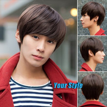 Synthetic Short Boy Pixie Cut Wigs Hairstyles Koreans Asian Male Brown  Cosplay Party Wig Natural Hair Perruque Peluca Hombre