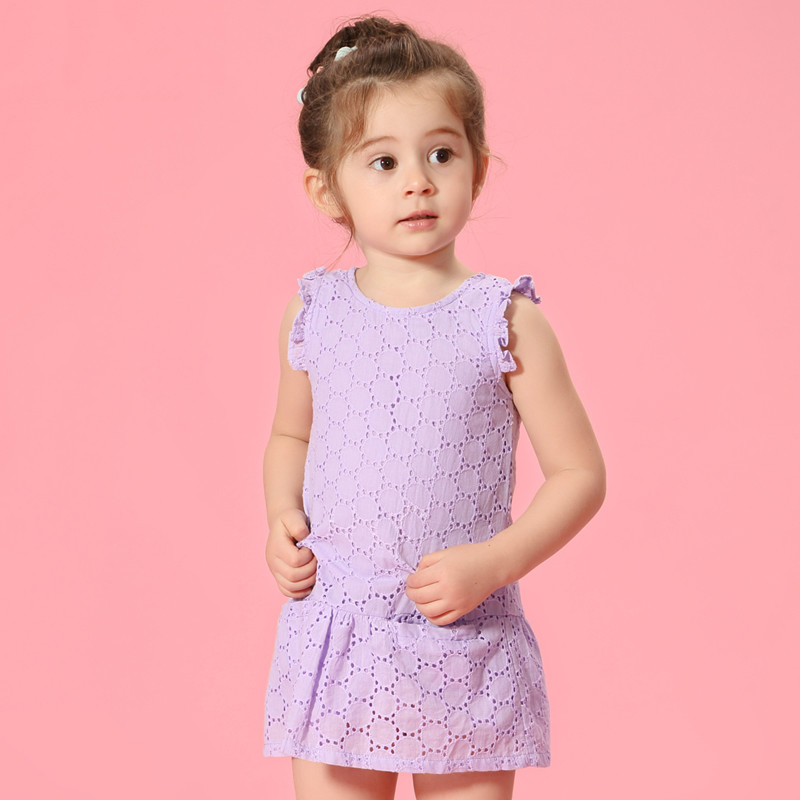 2017 Summer Baby 2 3 4 5 6 7 8 Years Old Girl Childrens Clothes Flutter Sleeves Lace Crochet Dress Summer Multi Colors Dress<br><br>Aliexpress