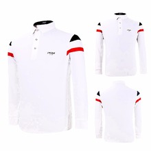 PGM Golf Sweaters Mens Shirts autumn winter golf apparel polo T-Shirt Long Sleeved clothing table tennis shirt High elasticity(China)