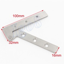 4PCS High Quality Stainless Steel Door Hinges 100mm x 16mm(China)