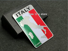 free shipping 20pcs Car Badge Emblem Sticker Metal Aluminum for ITALY EUROPE car body stick 80mm*50mm(China)