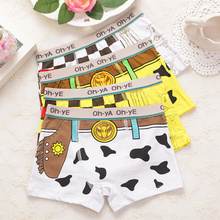 boy boxer boy underwear 4 Pcs/lot Boy Underwear Kids Panties Child's Underpants Shorts For boy Children's Boxer(China)