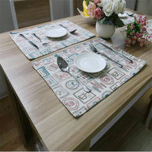 Custom made Korean style fashion water bottle design tablecloths placemats insulation pad coaster wholesale
