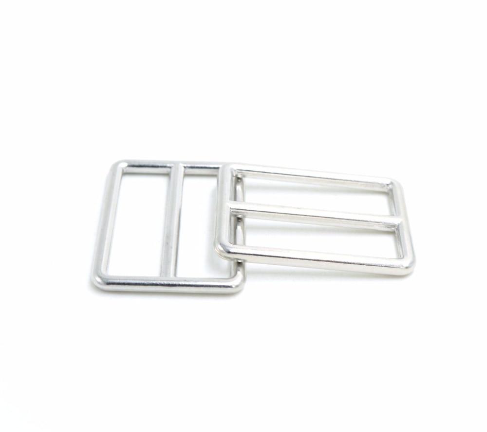 3 BAR SLIDES Black plastic tri glide buckles for nylon webbing straps 10 pack