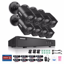 ANNKE 4 in 1 TVI CCTV Kit DVR 8PCS 1.0 MP 720P Outdoor Home Surveillance Security Camera System NO HDD