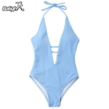 Buy Balight One Piece Swimsuit Summer Swim Wear Vintage Beach Wear Bandage Monokini Sexy Swimwear Women Bodysuit Bathing Suit