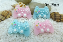 20*28MM Kawaii  Gamepad  flatback resin cabochon for phone deco  hair bow diy  Scrapbook Embellishment Free shipping
