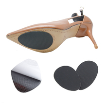 1 Pair Non Slip Non Sound High Heels Pad forefoot cushions insoles Anti Skid Shoes Mute Pads Foot Care Massage Z01201