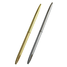 Stainless Steel Rod Rotating Metal Ballpoint Pen Commercial Ballpoint Pen Gift Stationery Material Escolar Office Accessories