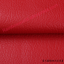 9# red High Quality Giant Pebble PU Leather fabric like leechee for DIY sofa table shoes bags bed material (50*69cm/piece)