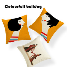 Creative Home San Valentin Cushion Covers Simple Chinese Wedding Pillowcases Camping 45X45Cm Linen Seat Car Decor Kussenhoes(China)