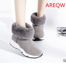 New 2016 fashion fur female warm ankle boots women boots snow boots and autumn winter women shoes b1