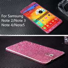 Glitter Crystal Diamond Full Body Wrap Decal Film Bling Sticker Protector Case For Samsung Galaxy Note2/Note3/Note4/Note5