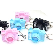 12pcs/lot fashion accessories mini camera led kacha kacha keychain camera style light-up toy key ring(China)