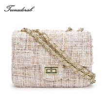 Trenadorab Winter Women Crossbody Bags Woolen Brand Designer Flap Lady Messenger Bag Chain Women Shoulder Bag Sac A Main