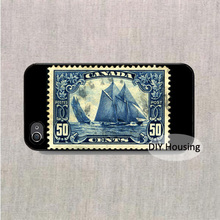 Stamp Canada 1929 50c Bluenose case for iPhone 4s 5s 5c 6s Plus iPod 4 5 6 Samsung s2 s3 s4 s5 mini s6 edge plus Note 2 3 4 5