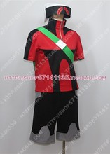 Pocket Monsters Pokemon Brendan Cosplay Costume Anime Custom Made Uniform