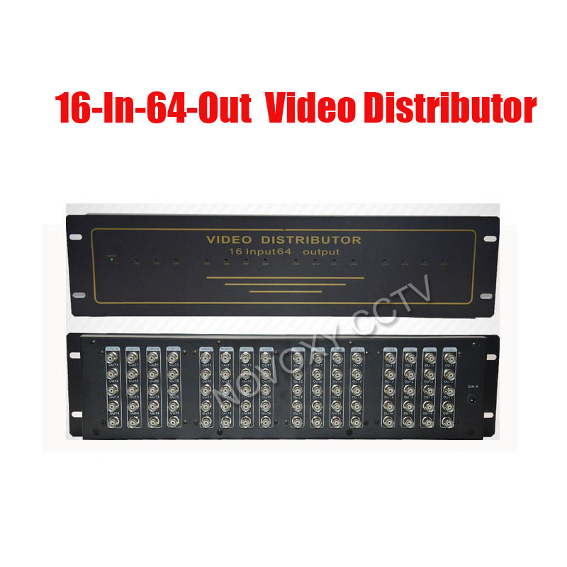 BNC Video Distributor 16 In 64 Out Composite Amplifier 16CH To 64CH Splitter For CCTV Security Camera DVR System(China)