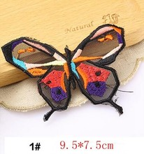 1PCS butterfly Embroidered Iron On Patches Sewing Applique Badge Clothes sew-on Patch Stickers Apparel Craft Sewing Accessories
