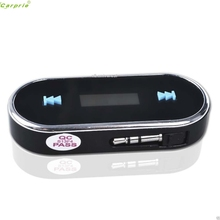 Practical Car Kit Wireless FM Transmitter MP3 Player USB SD LCD Remote Handsfree SZ1226(China)