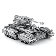 Scorpion Military tank Model 3D puzzle DIY toys metal jigsaw best Christmas gift for kids,Free shipping new arrival Hot sale
