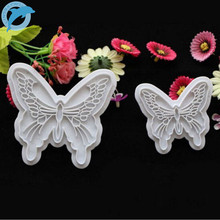 LINSBAYWU 2pcs/Set Butterfly Cake Fondant Sugarcraft Cookie Decorating Cutters Mold Tool
