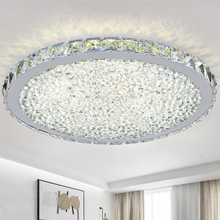 MOdern ceiling light Circular ring transparency/ Amber /colorful K9 crystal Living room ceiling lamp LED 110-230V free shopping