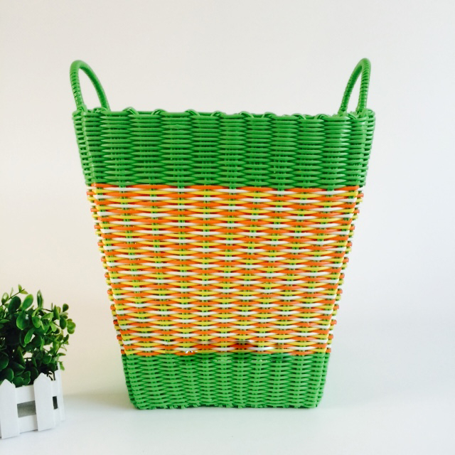 Dirty Clothes Basket Plastic Pipe Woven 4HQD (11)