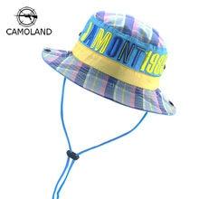 e387989eb11 Cotton Kids Bucket Hat Quickdry Summer Fishing Cartoon Cap baby boy Girl  Panama Children Sun Hat