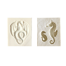 Sugarcraft Sea Horse and Dinosaur silicone mold fondant mold cake decorating tools chocolate gumpaste mold(China)
