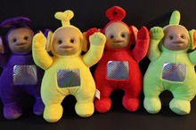 "Teletubbies Set of 4 Plush Dolls Featuring 10"" Po Dipsy Laa Laa and Tinky Winky"