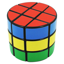 YKLWorld 3x3 Cylindrical Sticker Smooth Speed Magic Cube Professional Puzzle Cube Educational Toys Special Gifts for Kids -40(China)