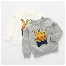 Girl Children's Garment 2016 Korean Autumn New Pattern Girl An Crown Bow Sweater Jacket Unlined Upper Pullover Upper