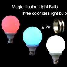 1pcs/lot  Magic Hot sale Magic illusion Light Bulb The Magic Lamp Tricks colorful Magnet Ring easy to do ring with Magic tricks