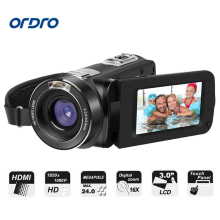 Original ORDRO Z8 PLUS 1080P Full HD Digital Video Camera 30FPS 24MP Support Remote Control HDMI Output 3.0 inch Touch Screen(China)