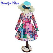 2017 Baby Girl Clothes Princess Autumn Dress Kids Clothes Kids Girls Girls Chinese Dress Birthday Dresses Imported-dresses