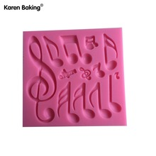 Beautiful And Classics Different Music Note Shape Silicone Fondant Cake Lace Mold Cake Mould, Bakeware--C498