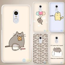 Pusheen The Cat Hard White Cell Phone Case Cover for Xiaomi Mi Redmi Note 4 Pro 4A 4C 4X 5X 5 6(China)