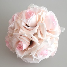 Romantic Handmade Artificial Rose Flowers 15x21cm Hanging Ball DIY Bouquet  Wedding Party Decor E2S
