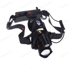 Ultra Bright more powerful and lasting energy Aluminum alloy headlamps with double head lights with blue light led lamp