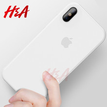 H&A matte phone Case For iPhone X Luxury Hard Back Full Cover cases For Apple iphone X Cover Phone Bag Capa(China)