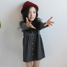 Kids Dresses For Girls Cotton Autumn Spring Girls Dresses Long Sleeve Plaid Girl Dress 2 3 5 7 9 Years Baby Vestidos