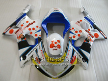 Fit for suzuki fairings gsxr1000 00 01 02 red sticker blue white motorcycle fairing kit GSXR 1000 2000 2001 2002 IV05