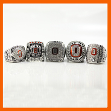 2002 2008 2009 2014 2014 OHIO STATE BUCKEYES FOOTBALL BIG TEN CHAMPIONSHIP RING US SIZE 11, 5 RINGS AS A SET(China)
