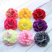 Hair accessory fabric peony big flower corsage brooch child full dress work wear hat flower wedding party Hair Clip Bridal party
