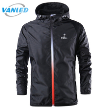 2017 New Spring Summer Mens Fashion Outerwear Windbreaker Men' S Thin Jackets Hooded Casual Sporting Coat Big Size