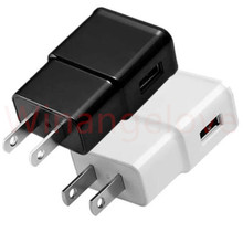 Buy USB Wall Charger 5V 2A AC Travel Home Charger Adapter US EU Plug universal smartphone android phone White Black Color for $550.00 in AliExpress store