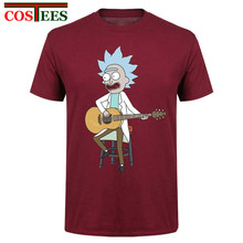 Oversized Mens 3D T shirts Children/Adult Summer Rick and Morty Rock music Male Anime Kids Short Sleeve Tiny Rick guitar T-shirt(China)