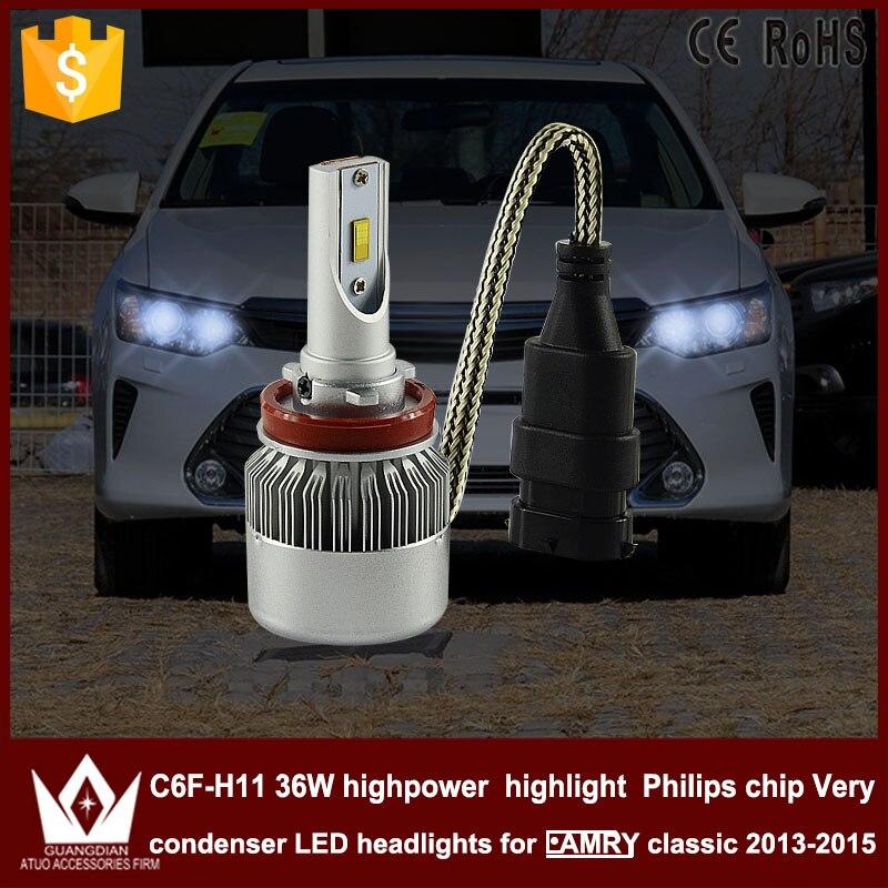 Guang Dian car led light Headlight  low beam Dipped beam C6F 6000K white h8 h9 h11 for T-O-Y-O-T-A For camry classic 2013-2015<br><br>Aliexpress